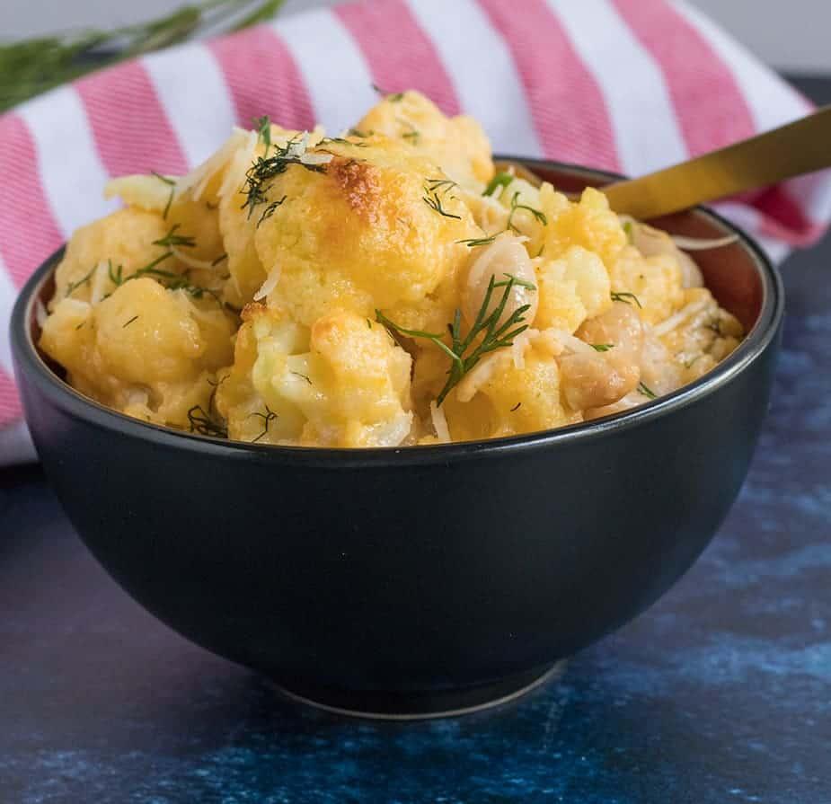 Cauliflower & Cannelli Bean Mac n Cheese (Gluten Free)   Apples for CJ