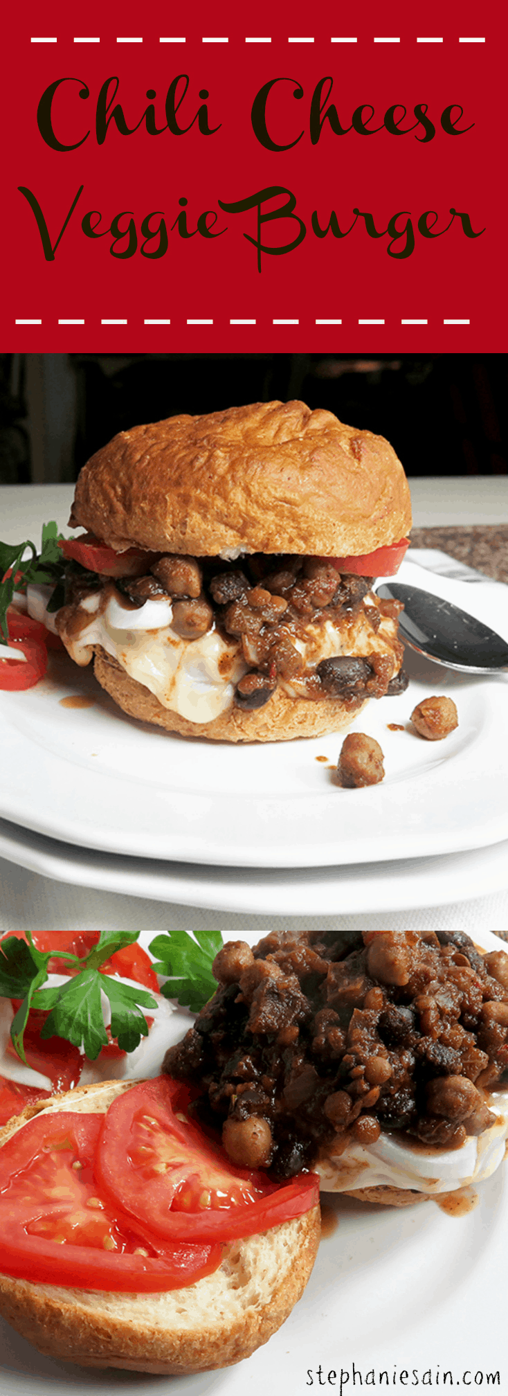 Chili Cheese Veggie Burger is a tasty, gluten free burger that is easy to prepare.