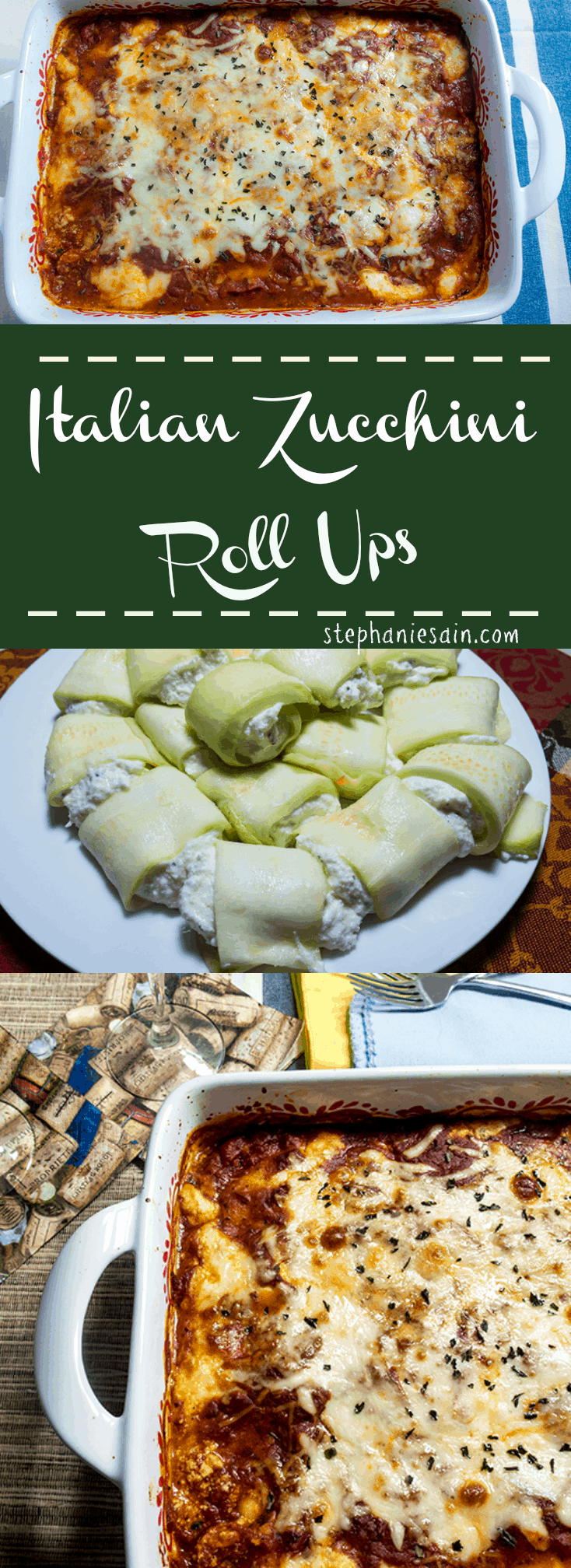 Italian Zucchini Roll ups are a healthy, tasty, option for lasagna that are vegetarian and gluten free