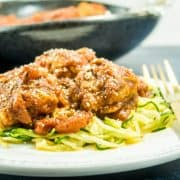 Zoodles with Cauliflower Meatless Balls