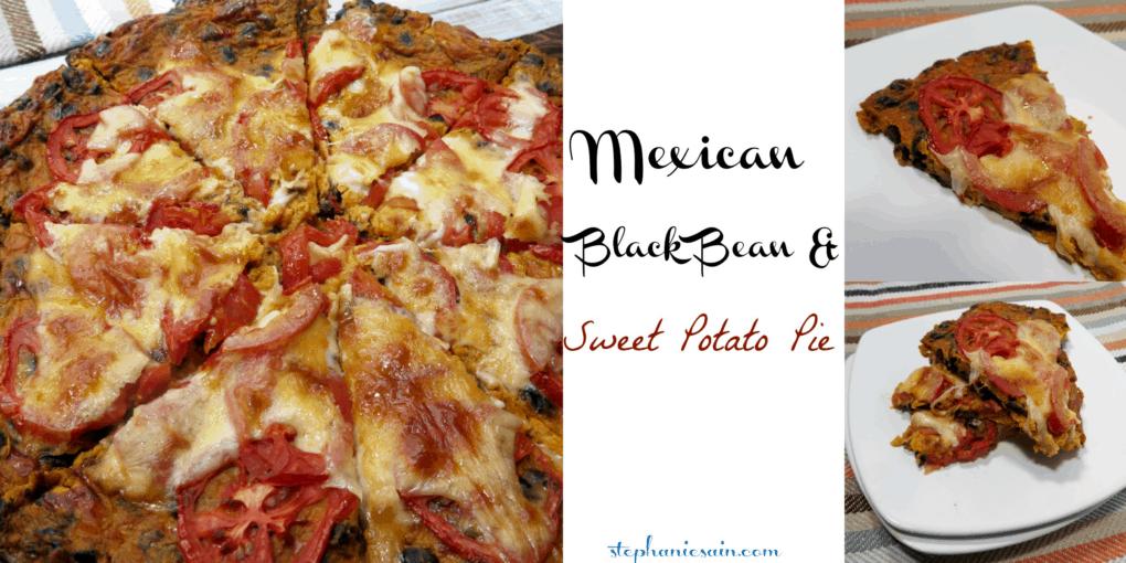 Mexican Black Bean & Sweet Potato Pie