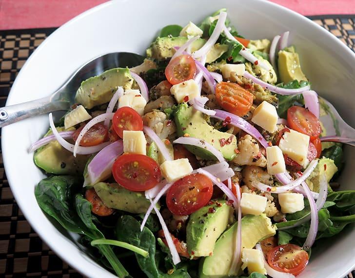 California Style Avocado Salad | Apples for CJ