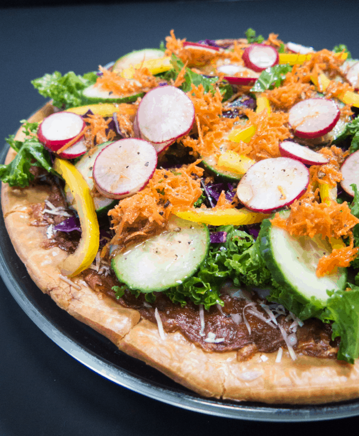 Easy Vegetable Salad Pizza