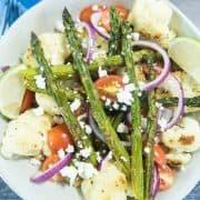 Roasted Asparagus & Cauliflower Salad (Gluten Free)