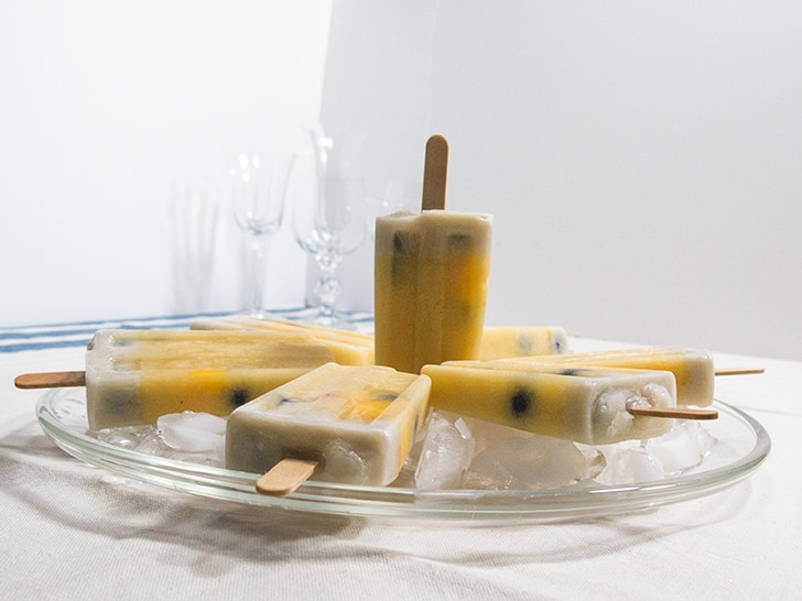 Peachy Blueberry Popsicles