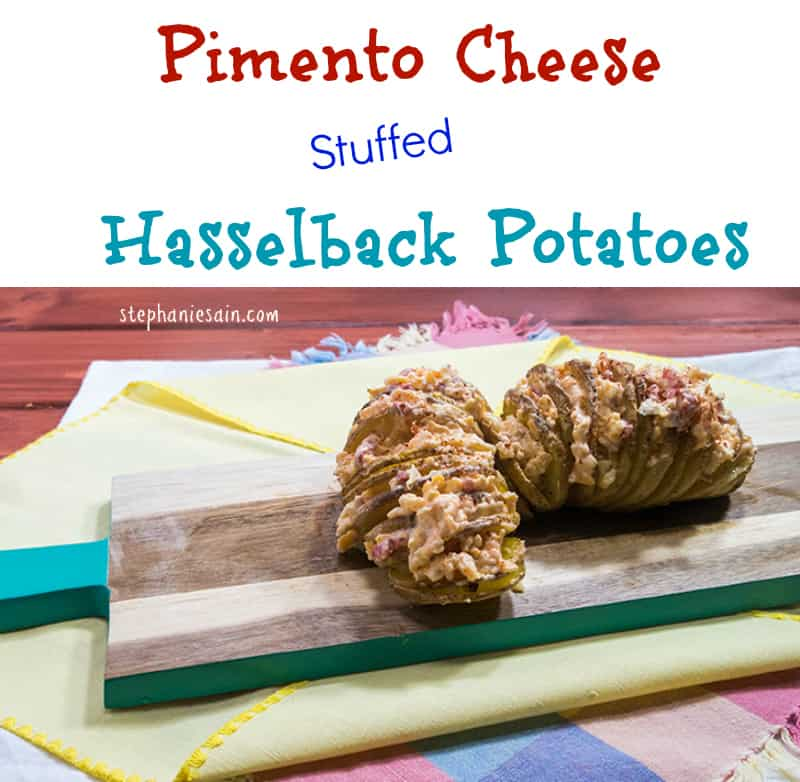 Pimento Cheese Stuffed Hasselback Potatoes