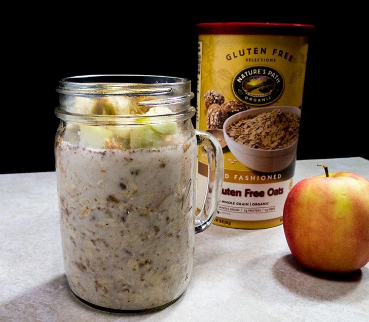 Almond Butter Apple Overnight Oats