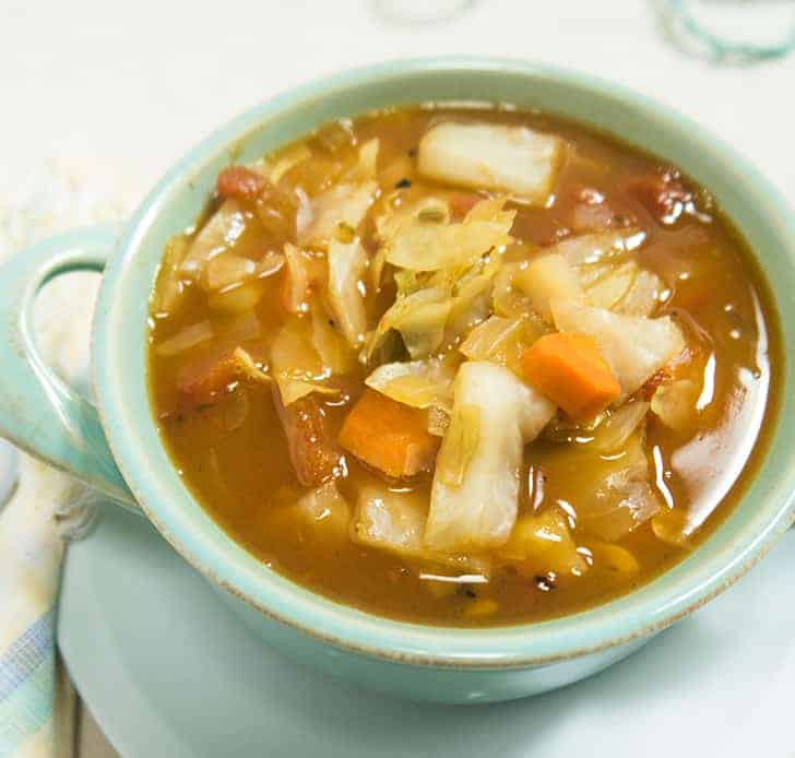 Slow Cooker Spicy Cabbage Soup | Apples for CJ