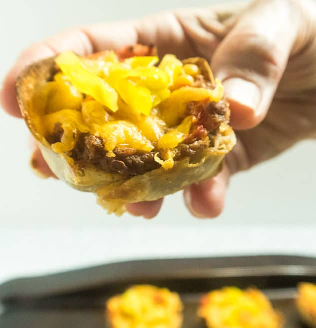 Mini Vegetarian Taco Cups