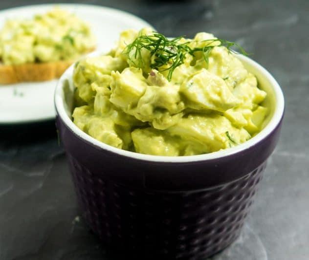 Creamy Avocado Egg Salad (Mayo-Free)