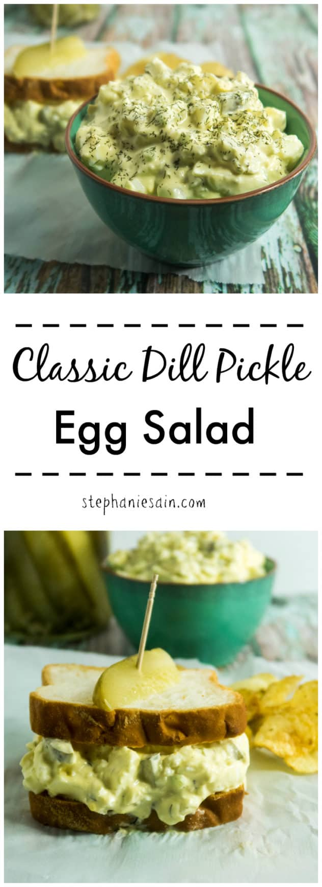 Classic Dill Pickle Salad is a creamy, tasty addition and goes great on a sandwich or wrap. Perfect for breakfast, lunch or any kind of gatherings. Gluten Free & Vegetarian.