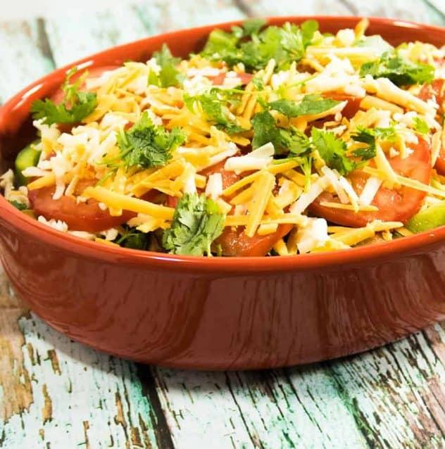 Cheesy Zucchini Cilantro Casserole