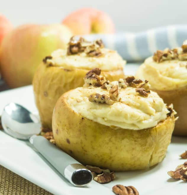 Easy Baked Cheesecake Stuffed Apples
