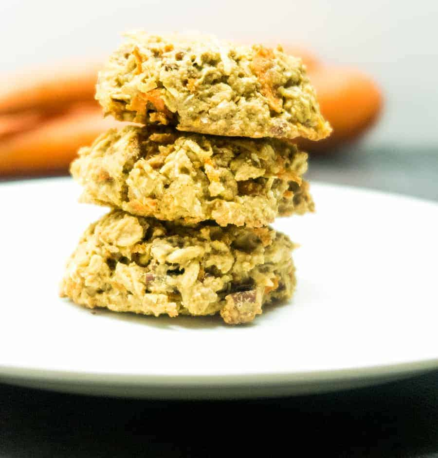 Ginger Carrot Cake Oatmeal Cookies | Apples for CJ