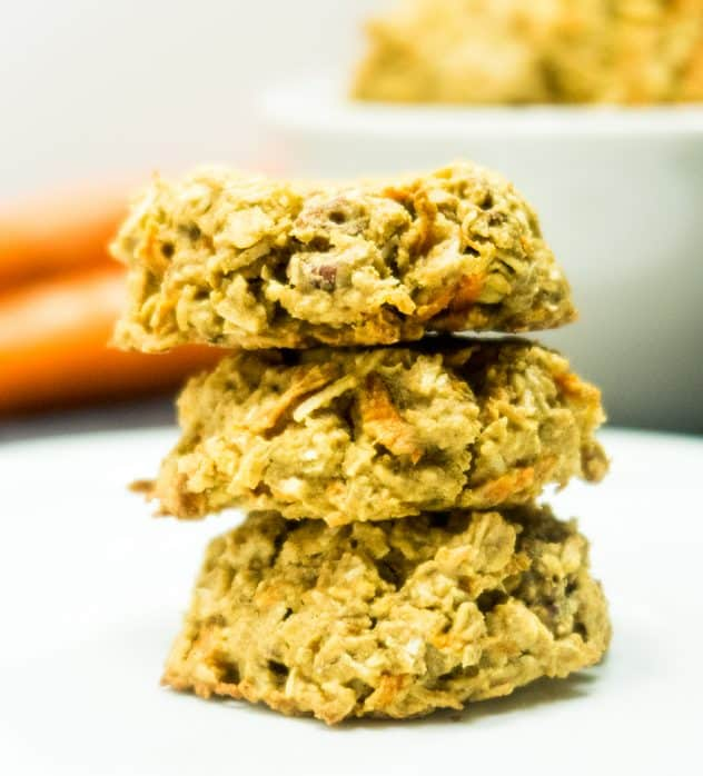 Ginger Carrot Cake Oatmeal Cookies
