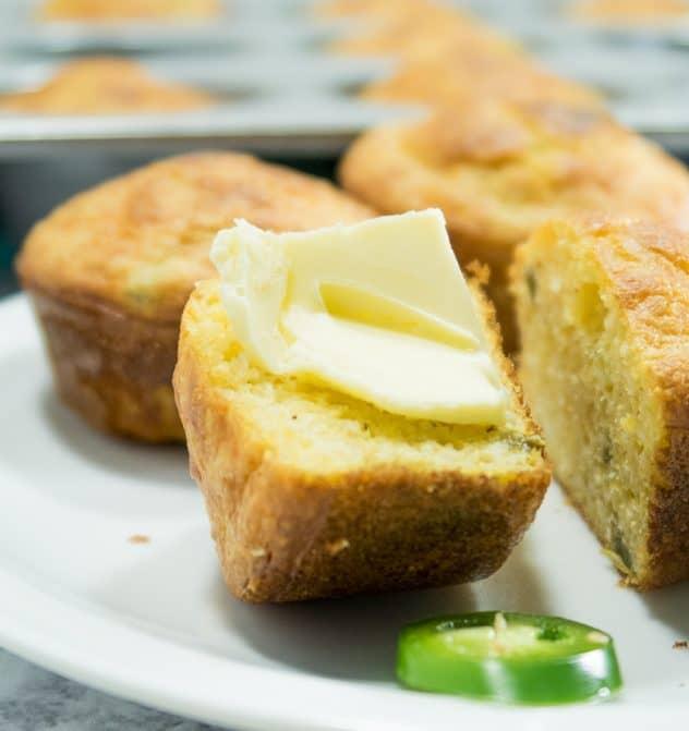 Gluten Free Jalapeno Cheddar Corn Muffins