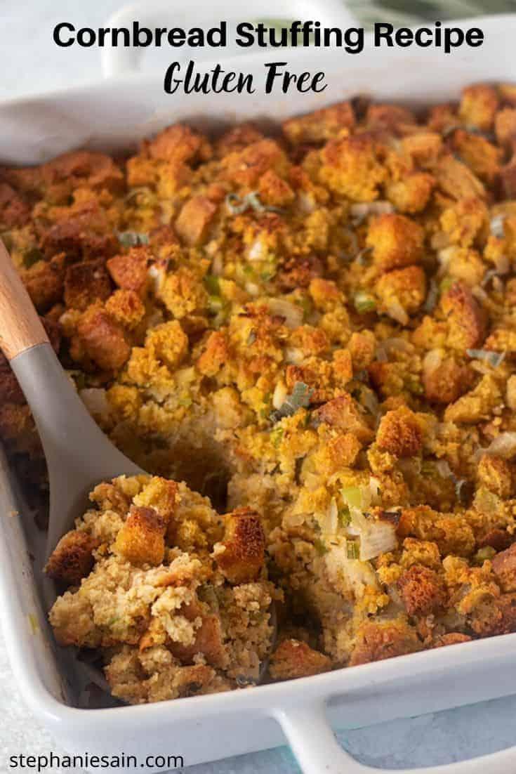 Sage Cornbread Stuffing Gluten Free Easy
