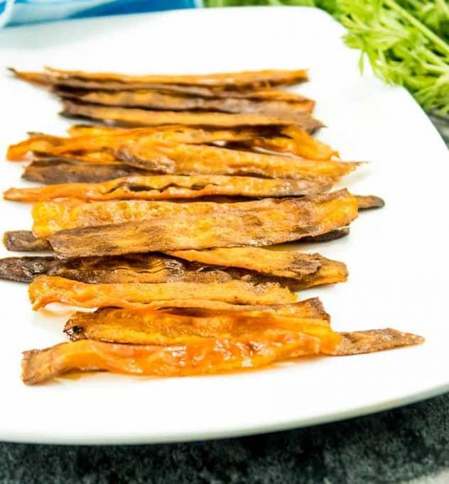 Baked Crispy Carrot Bacon