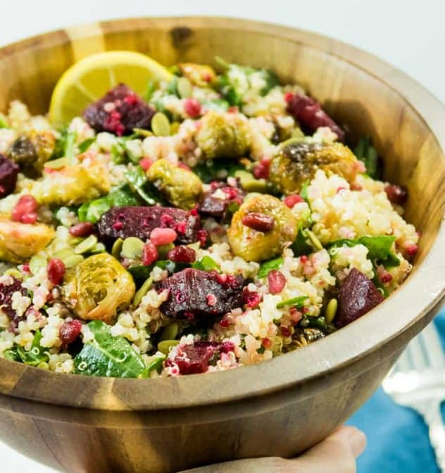 Quinoa Brussels Sprouts Beet Salad