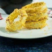 Crispy Baked Gluten Free Onion Rings (Vegan)