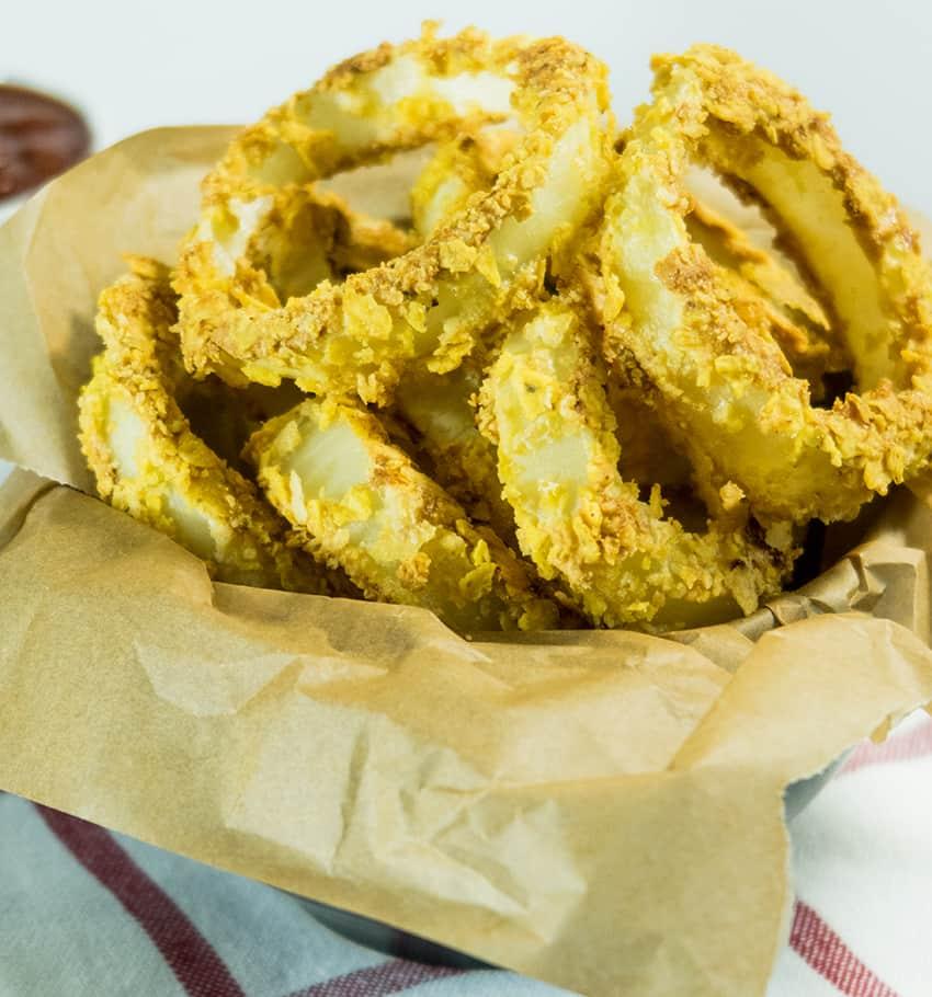 Crispy Oven Baked Gluten Free Onion Rings