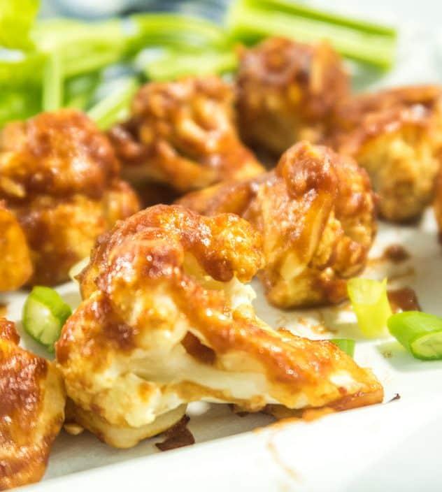 Baked Honey BBQ Cauliflower Wings