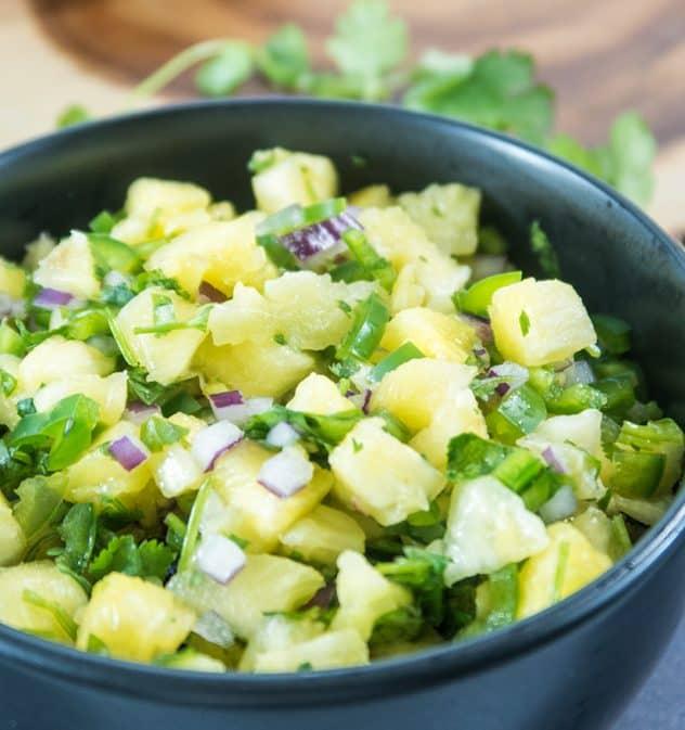 5 Ingredient Pineapple Salsa Recipe (Paleo & Vegan)