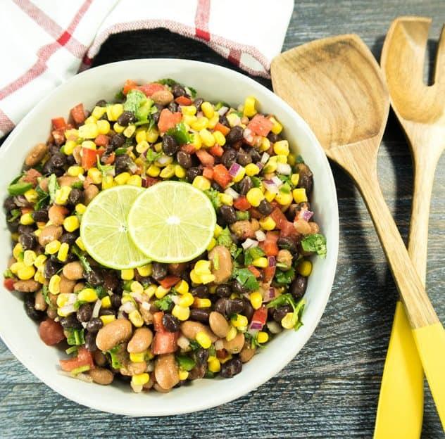Southwestern Two Bean Salad (Vegan & Gluten Free)