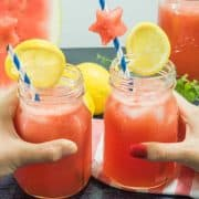 Watermelon Lemonade (Refined Sugar-Free)