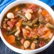 Hearty Minestrone Soup (Gluten Free & Vegan)