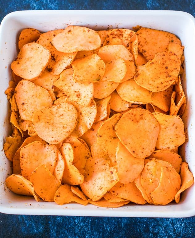 Spicy Scalloped Sweet Potatoes