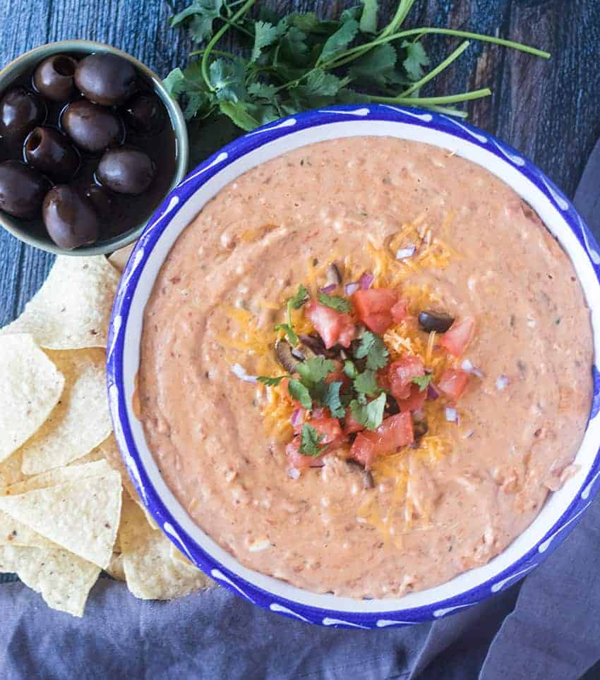 Easy Warm Bean Dip Gluten Free Vegetarian