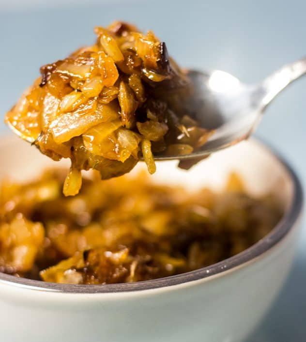 Caramelized Onions on a spoon