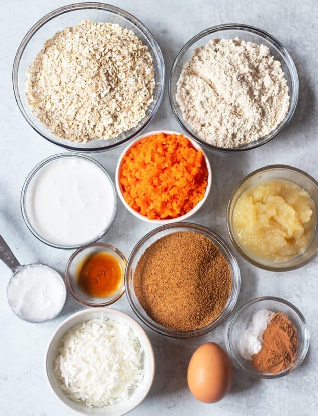 ingredients in carrot cake cookies