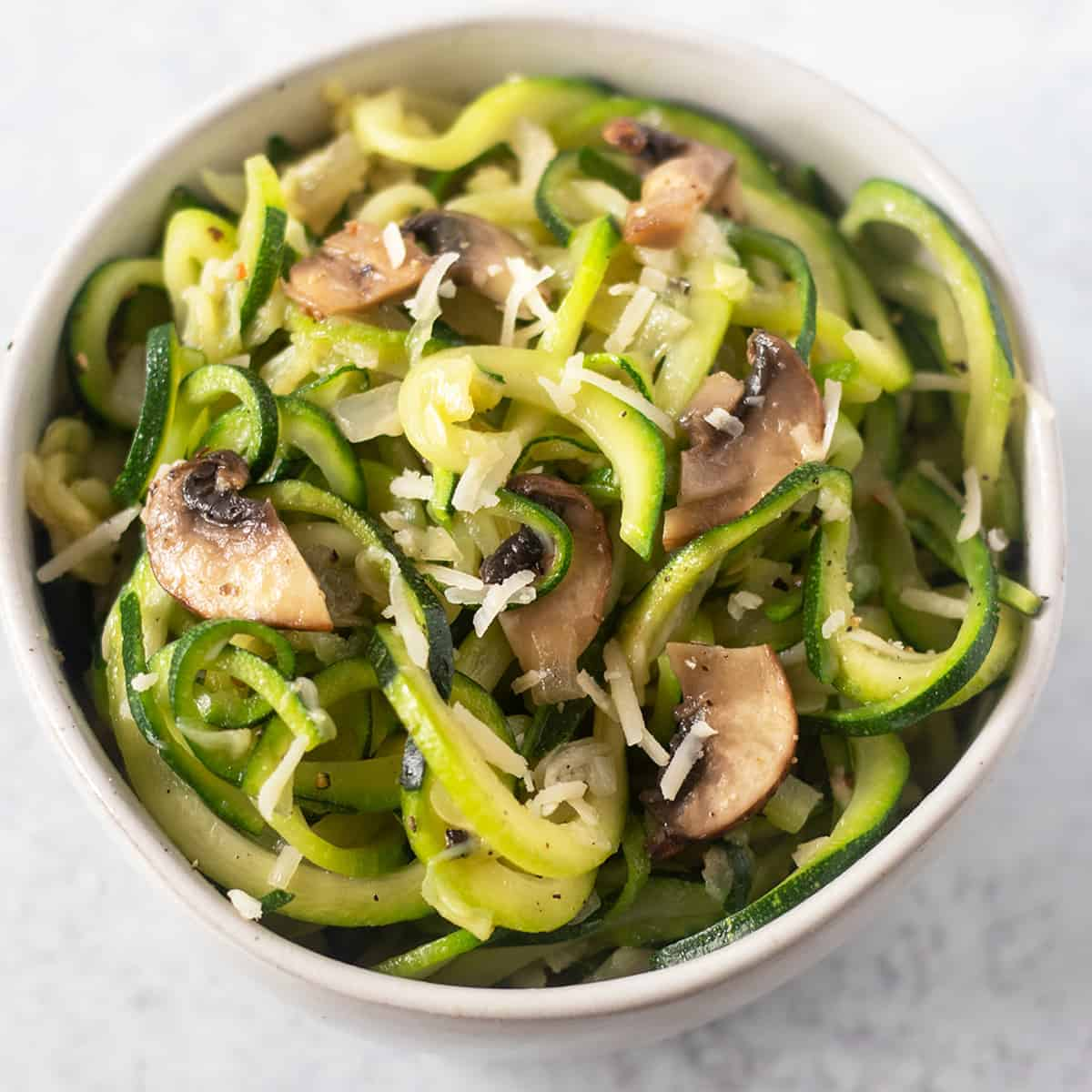 Zucchini Noodles in a bowl