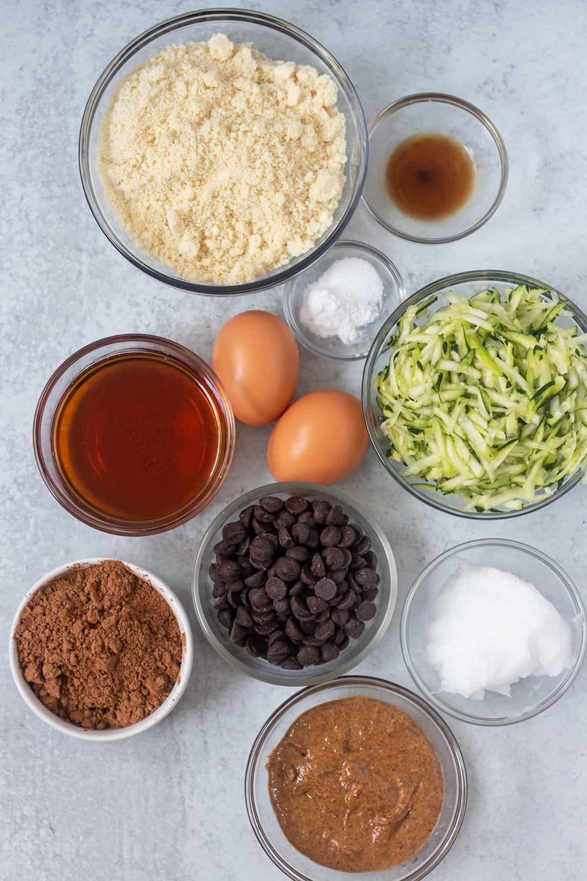 ingredients in zucchini brownies