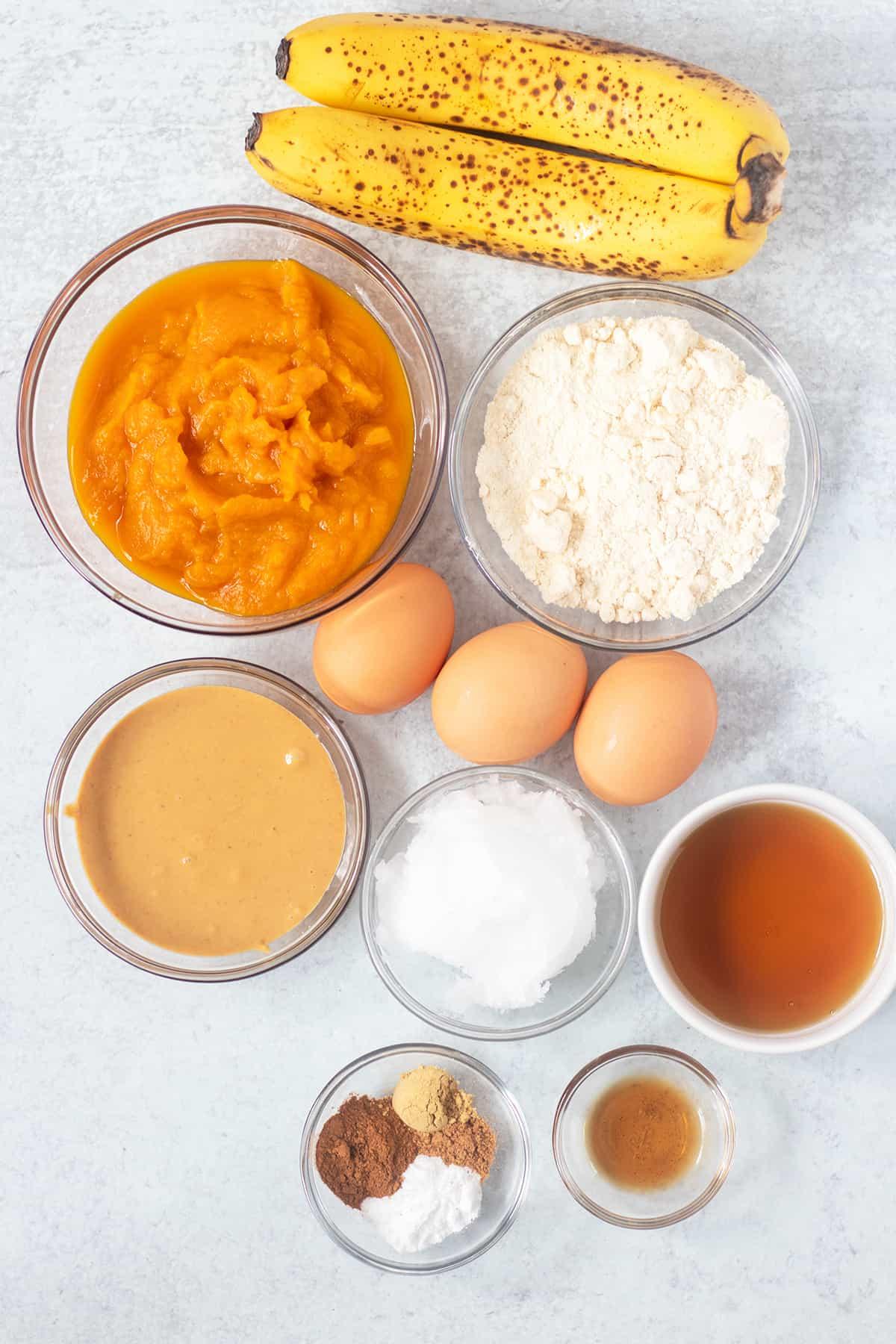 ingredients in pumpkin muffins